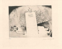 La Tombe du Père - Original Etching by Marc Chagall - 1923