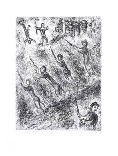 La Tranchée  - Original Etching by M. Chagall - 1977