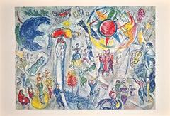 La Vie - Original Lithograph by Marc Chagall - 1968