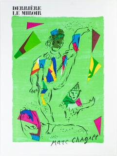 """L'Acrobate Vert - Coverture (The Green Acrobat),"" an Original Color Lithograph"