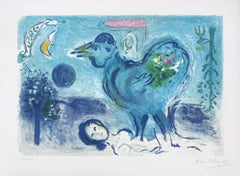Landscape With Rooster - Original Lithograph Handsigned (Mourlot #208)