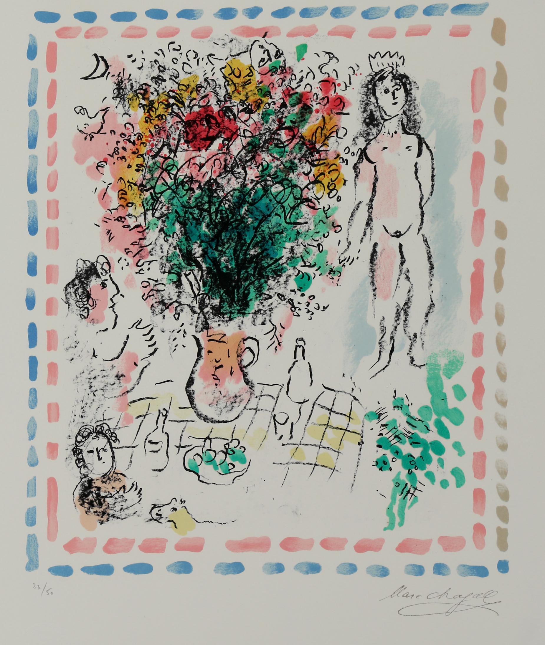 Le Bouquet de la Reine, Limited edition lithograph in colors