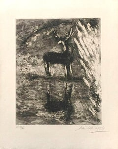Le Cerf se Voyant dans l'Eau - Etching by Marc Chagall - 1952