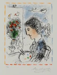 Le Chevalet Fleuri, Limited edition lithograph