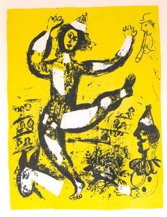 Le Cirque - Original Lithograph by Marc Chagall - 1960