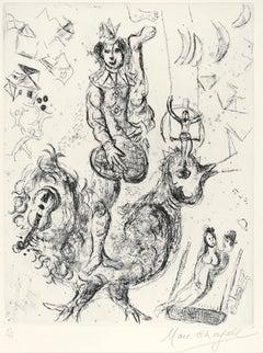 Le Clown Acrobate - Original Etching & Aquatint by Marc Chagall - 1967