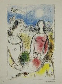 """""""Le couple au crépuscule"""", Derrière le miroir, Maeght Editeur, Paris-1980."""