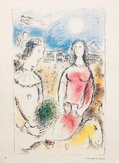 Le Couple Au Crepuscule-Lithograph from Derriere Le Miroir