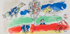 """Le Fleuve Vert (The Green River), M 728,"" Original Color Lithograph by Chagall"