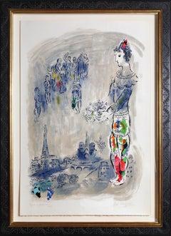 Le Magicien de Paris I, Lithograph by Marc Chagall 1969