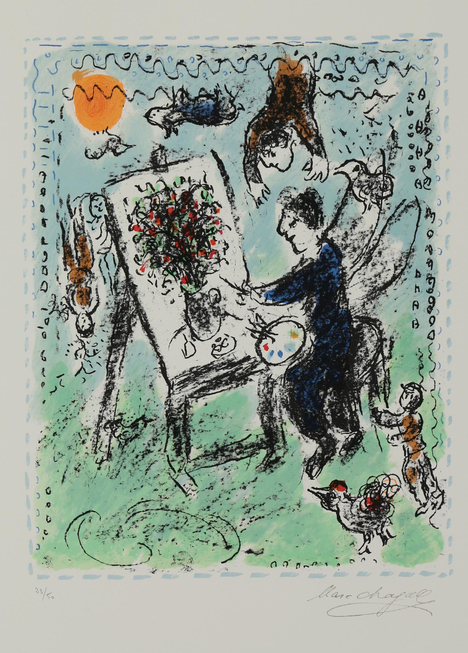 Le Peintre Aile, Limited Edition Lithograph