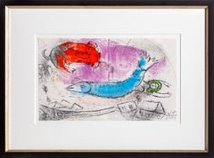 Le Poisson Bleu, Lithograph by Marc Chagall 1957