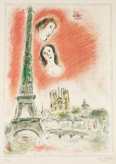 Le Reve de Paris, Hand-signed, Lithograph in Colors