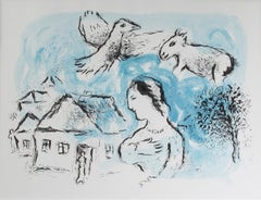 """Le Village (The Village), M 917,"" an Original Color Lithograph by Marc Chagall"