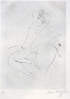 L'Ecuyère - Original Etching by Marc Chagall - 1926/27