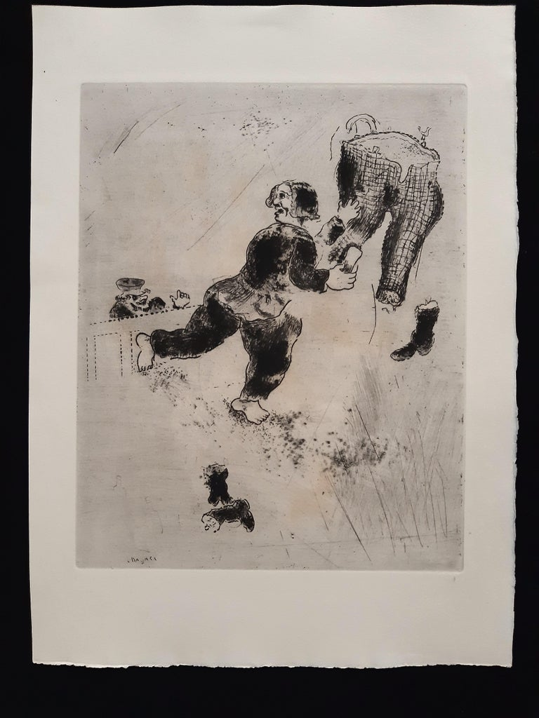 Les Ames Mortes by N. Gogol - Complete Suite by Marc Chagall - 1948  For Sale 9