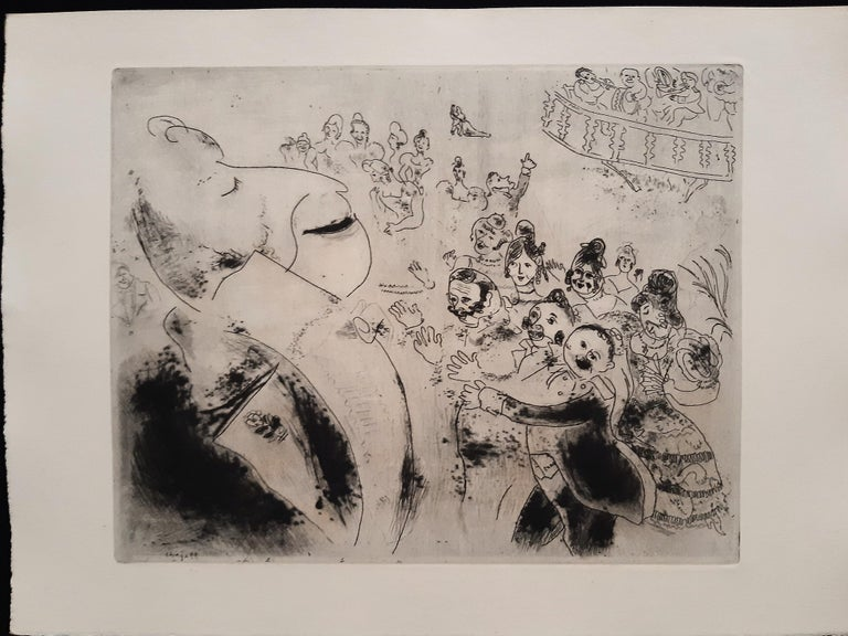 Les Ames Mortes by N. Gogol - Complete Suite by Marc Chagall - 1948  For Sale 12