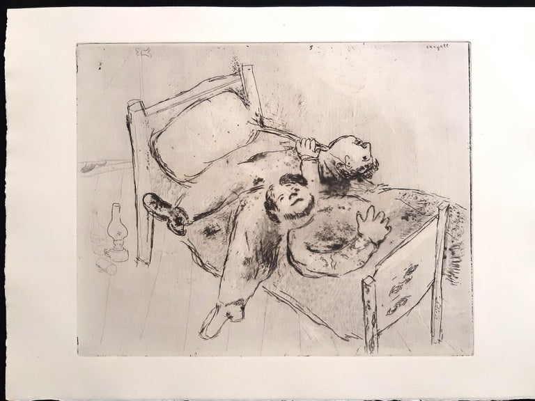 Les Ames Mortes by N. Gogol - Complete Suite by Marc Chagall - 1948  For Sale 13