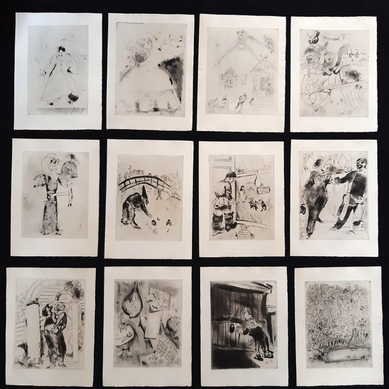 Les Ames Mortes by N. Gogol - Complete Suite by Marc Chagall - 1948  For Sale 8