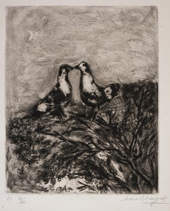 Les Deux Pigeons (Two Pigeons) - Original Etching by Marc Chagall - 1927-1930
