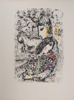 Les Enchanteurs (Lovers at Circus) - Original lithograph (Mourlot #569)