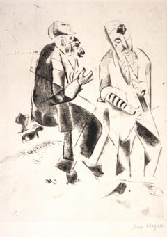 Les Grands Pères - Original Etching by Marc Chagall - 1922