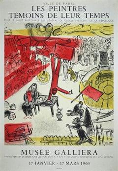 Les Peintres Témoins de leur Temps - Lithographed Poster after M. Chagall - 1963