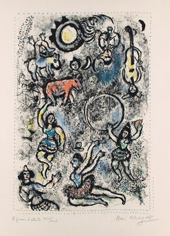 Les saltimbanques - 20th Century, Marc Chagall, Expressionist, Figurative Print