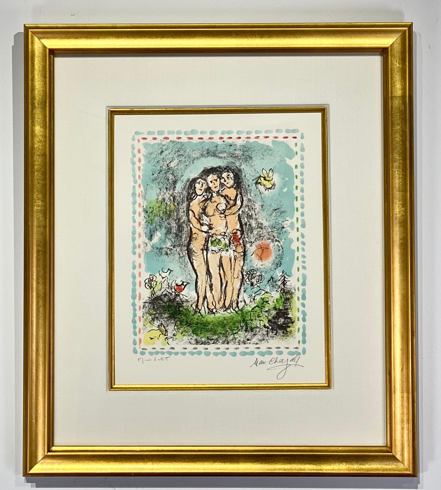 "Marc Chagall ""Les trois nus"""