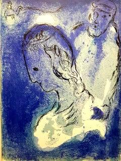 Marc Chagall - Blue Portrait - Original Lithograph