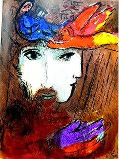 Marc Chagall - Double Portrait - Original Lithograph
