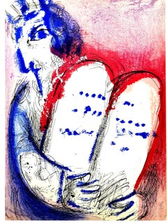 Marc Chagall - Tablets of Stone - Original Lithograph