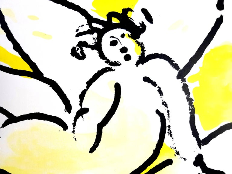 Marc Chagall - The Bible - Original Lithograph - Yellow Figurative Print by Marc Chagall