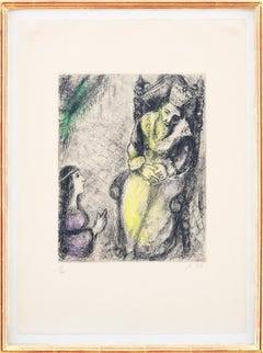 Marc Chagall - Bath-Sheba at the Feet of David - Original Handsigned Etching