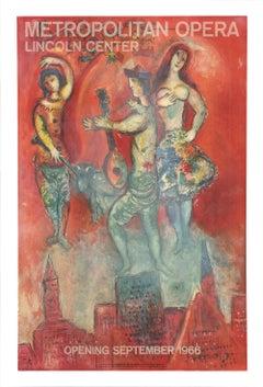 "Marc Chagall-Carmen -40"" x 26""-Lithograph-1966-Modernism"