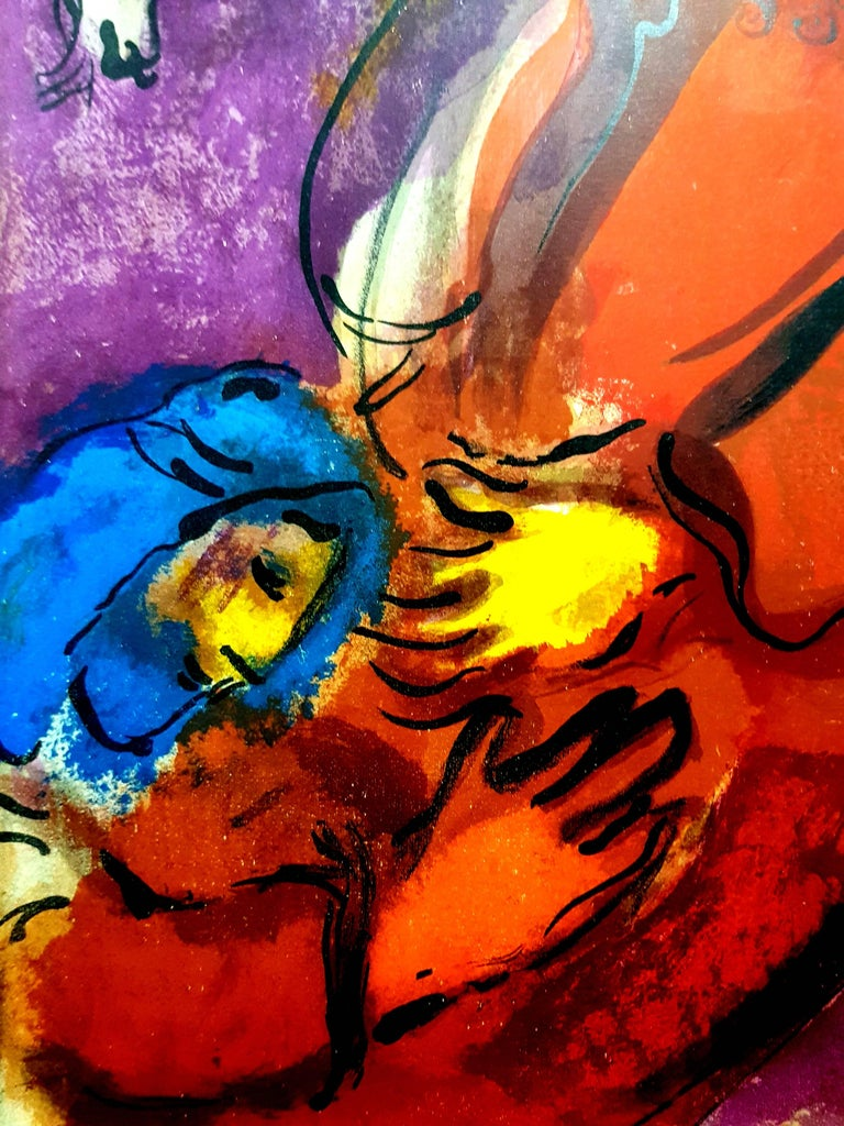 Marc Chagall - Colorful Bible - Original Lithograph - Modern Print by Marc Chagall
