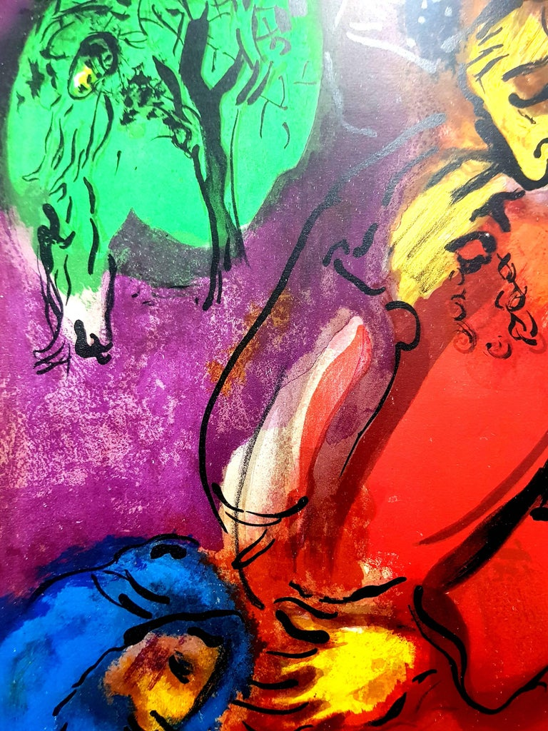Marc Chagall - Colorful Bible - Original Lithograph For Sale 2