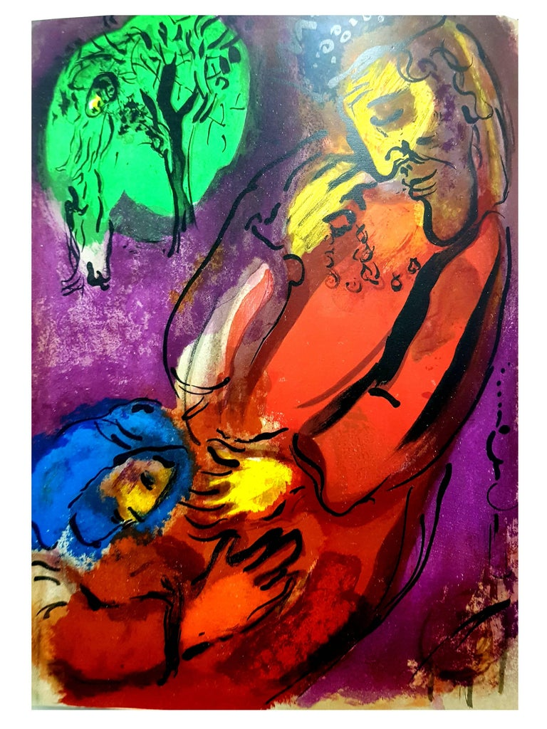 Marc Chagall - Colorful Bible - Original Lithograph For Sale 3