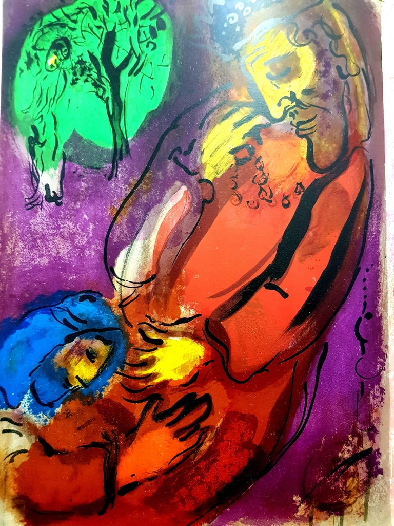 Marc Chagall - Colorful Bible - Original Lithograph - Print by Marc Chagall