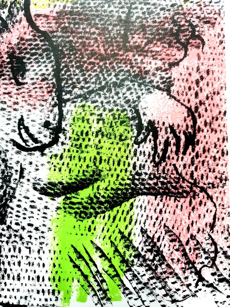 Marc Chagall - Couple With a Goat - Original Lithograph For Sale 1