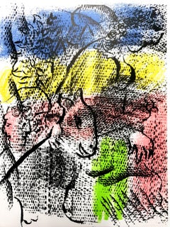 Marc Chagall - Couple With a Goat - Original Lithograph