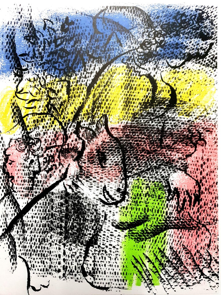Marc Chagall - Couple With a Goat - Original Lithograph - Print by Marc Chagall