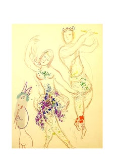 Marc Chagall - Dahnis and Chloé - Original Lithograph