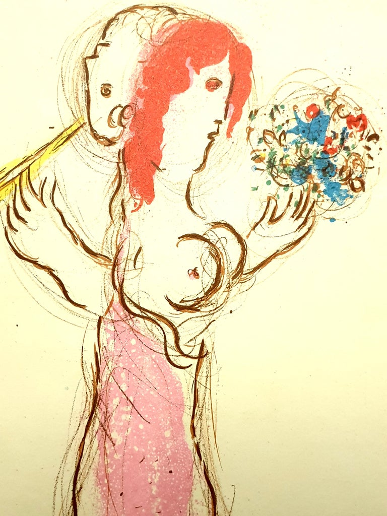Marc Chagall - Daphnis and Chloé - Original Lithograph From the literary review