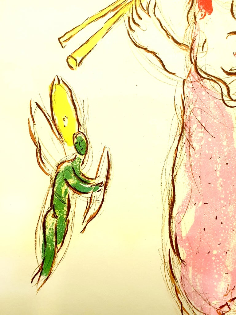 Marc Chagall - Daphnis and Chloé - Original Lithograph For Sale 1