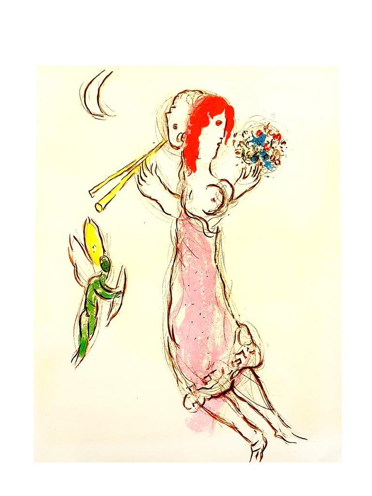 Marc Chagall - Daphnis and Chloé - Original Lithograph - Print by Marc Chagall