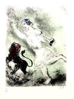 Marc Chagall - David and the Lion- Original Handsigned Etching