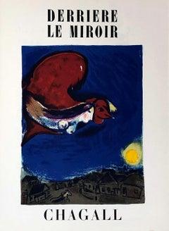 Marc Chagall Derrière le miroir 1950 (Marc Chagall lithograph)