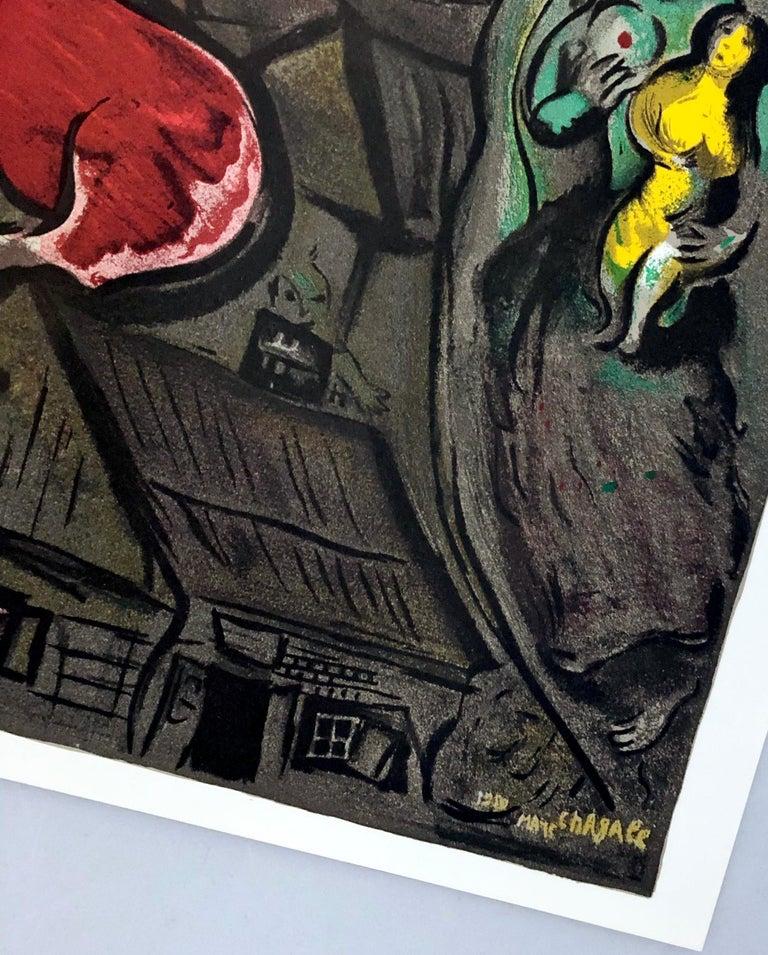 Marc Chagall lithograph Derrière le miroir - Modern Print by Marc Chagall