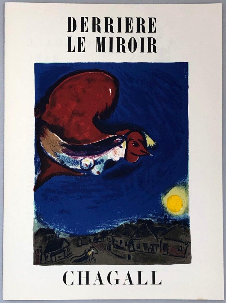 Marc Chagall lithograph Derrière le miroir - Black Figurative Print by Marc Chagall